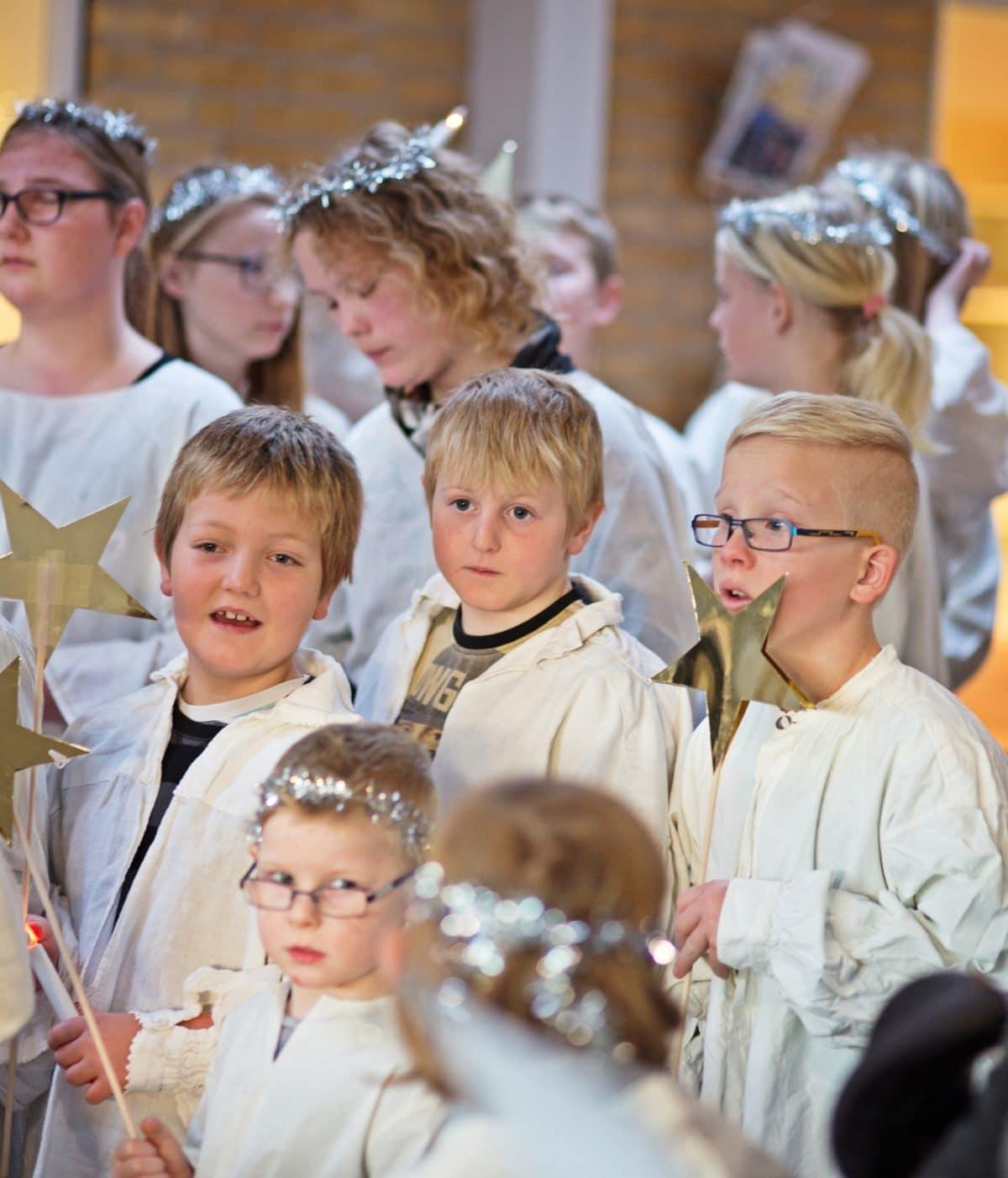 Der Er Blevet Julet På Pilehaveskolen I December